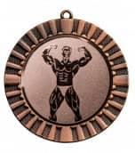 "Medaille ""Steropes"" Ø 70 mm inkl. Wunschemblem und Kordel bronze"