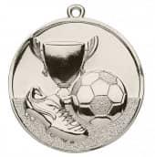 Fußballmedaille Ø 50 mm inkl. Kordel silber