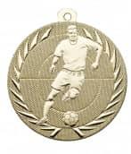 """Fußballmedaille """"Spieler"""" Ø 50 mm inkl. Wunschemblem und Kordel gold"""