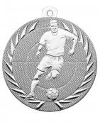 """Fußballmedaille """"Spieler"""" Ø 50 mm inkl. Kordel silber"""