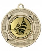 """Medaille """"Nereus"""" Ø 50 mm inkl. Wunschemblem und Kordel gold"""