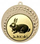 """Medaille """"Keto"""" Ø 70 mm inkl. Wunschemblem und Kordel gold"""
