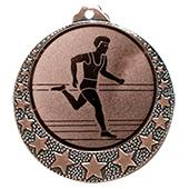 """Lauf Medaille """"Brixia"""" Ø 32mm mit Wunschemblem und Band bronze"""