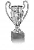 Fußball Pokal mit Motiv und Henkel 3er Serie FS82 silber