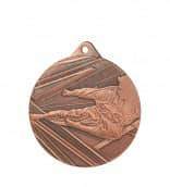 "Medaille ""Karate"" 1 Ø 50mm mit Band Bronze"