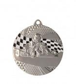 "Medaille ""Kart"" Ø 50mm mit Band1 Silber1"