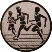 Emblem 25mm Drei Laeufer, bronze