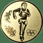Emblem 25mm Laeufer Olympia, gold