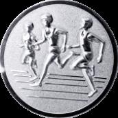 Emblem 25mm Drei Laeufer, silber 3D