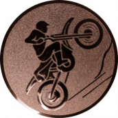 Emblem 25mm Motocross, bronze