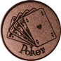 Emblem 25mm Poker, bronze