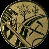 Emblem 25mm Feuerwehreisatz, gold