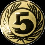 Emblem 50 mm Ehrenkranz mit 5, gold