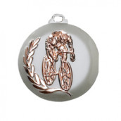 """Medaille """"Radfahrer"""" bronze"""