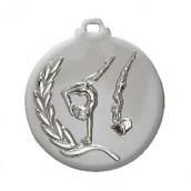 """Medaille """"Turnen"""" Ø 50mm silber mit Band Silber"""