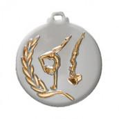 """Medaille """"Turnen"""" Ø 50mm silber mit Band Bronze"""