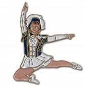 Tanzmariechen Sprung Pin blau-weiß