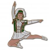 Tanzmariechen Sprung Pin grün-weiß