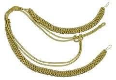 Fangschnur gold 2 Breitgeflecht und 2 Schlingen