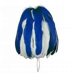 Federbusch blau-weiss mixed mit 90 oder 120 Bahnen