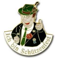 """""""Ich bin Schuetzenfest"""" Anstecker"""