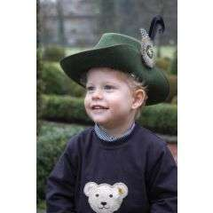 Kinder-Schuetzenhut mittelgruen meliert