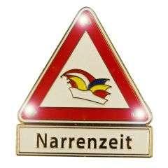 """Neu: Warndreieck """"Narrenzeit"""" mit Blinkis"""