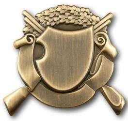 Schützenabzeichen 1 altgold