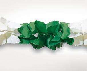 Girlande grün/weiß eckig
