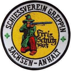 """Stickabzeichen - Aufnäher """"Freischütz"""""""