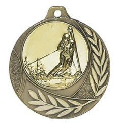 """Medaille """"Arezzo"""" Ø 40mm mit Wunschemblem und Band bronze"""
