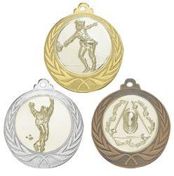 """Medaille """"Cortona"""" Ø 70mm mit Wunschemblem und Band"""
