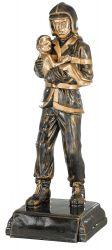 Trophäe Feuerwehrmann mit Kind FS20313 bronze