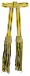 SALE: Schärpenquasten mit fester Schleife gold-schwarz