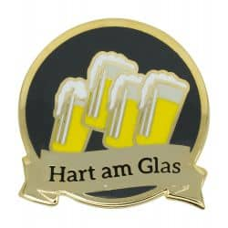 """Abzeichen """"Hart am Glas"""""""