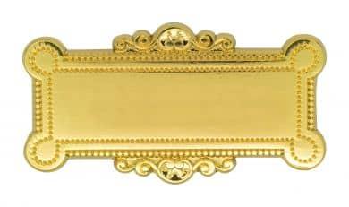 Broschennadel mit Gravurfläche gold