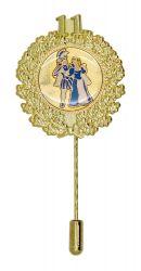 Jubiläumsnadel mit Ehrenkranz und Zahl 11