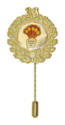 Jubiläumsnadel mit Ehrenkranz und Zahl 33