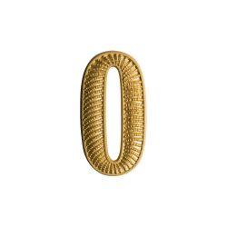 """Zahl """" 0 """" für Schulterklappe"""