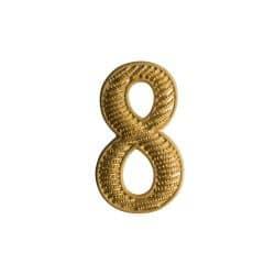 """Zahl """" 8 """" für Schulterklappe"""
