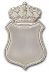Königsnadel - Broschennadel mit Krone vergoldet versilbert