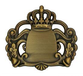 Königsabzeichen 7 mit Magnet altgold