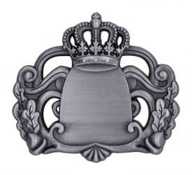 Königsabzeichen 7 mit Magnet altsilber