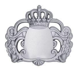 Königsabzeichen 7 mit Magnet silber