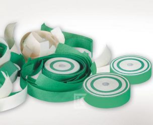 Konfetti-Frisbee grün-weiß