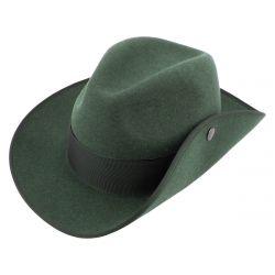 Schützenhut dunkelgrün meliert mit breiter Krempe