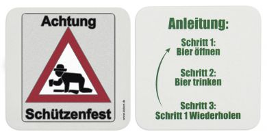 "Bierdeckel ""Achtung Schützenfest"" 100 Stk."