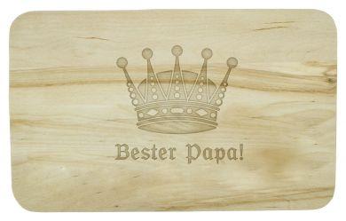 Frühstücksbrettchen mit Bester-Papa-Beschriftung und Krone