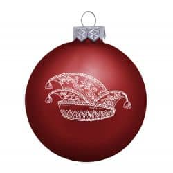 Weihnachtsbaumkugel (matt) mit Narrenkappe