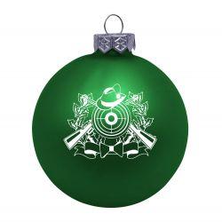 Weihnachtsbaumkugel (matt) mit Schützenmotiv
